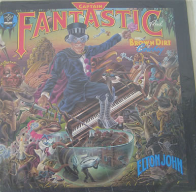 Elton John - Captain Fantastic And The Brown Dirt Cowboy - 1975 - with inserts and poster 12 inch vinyl
