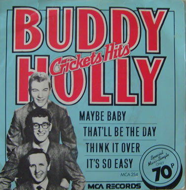 Buddy Holly - Crickets Hits 7 Inch Vinyl