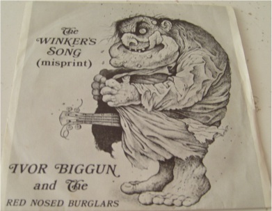 Ivor Biggun & The Red Nosed Burglars - The Winkers Song (misprint) 7 Inch Vinyl