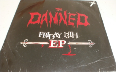 The Damned - Friday 13th E.P 7 Inch Vinyl