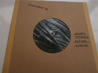 Monty Python' Tiny Black Round Thing - D.P Gumby presents 'Election 74' 7 Inch Vinyl