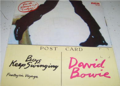 David Bowie - Boys Keep Swinging 7 inch vinyl