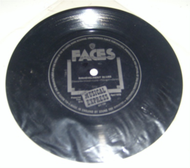 Faces - NME PROMO Flexi Disc Selections : fly in the ointment/ my fault /borstal boys / silicone groan / oo-la-la / dishevelment blues 7 Inch Vinyl