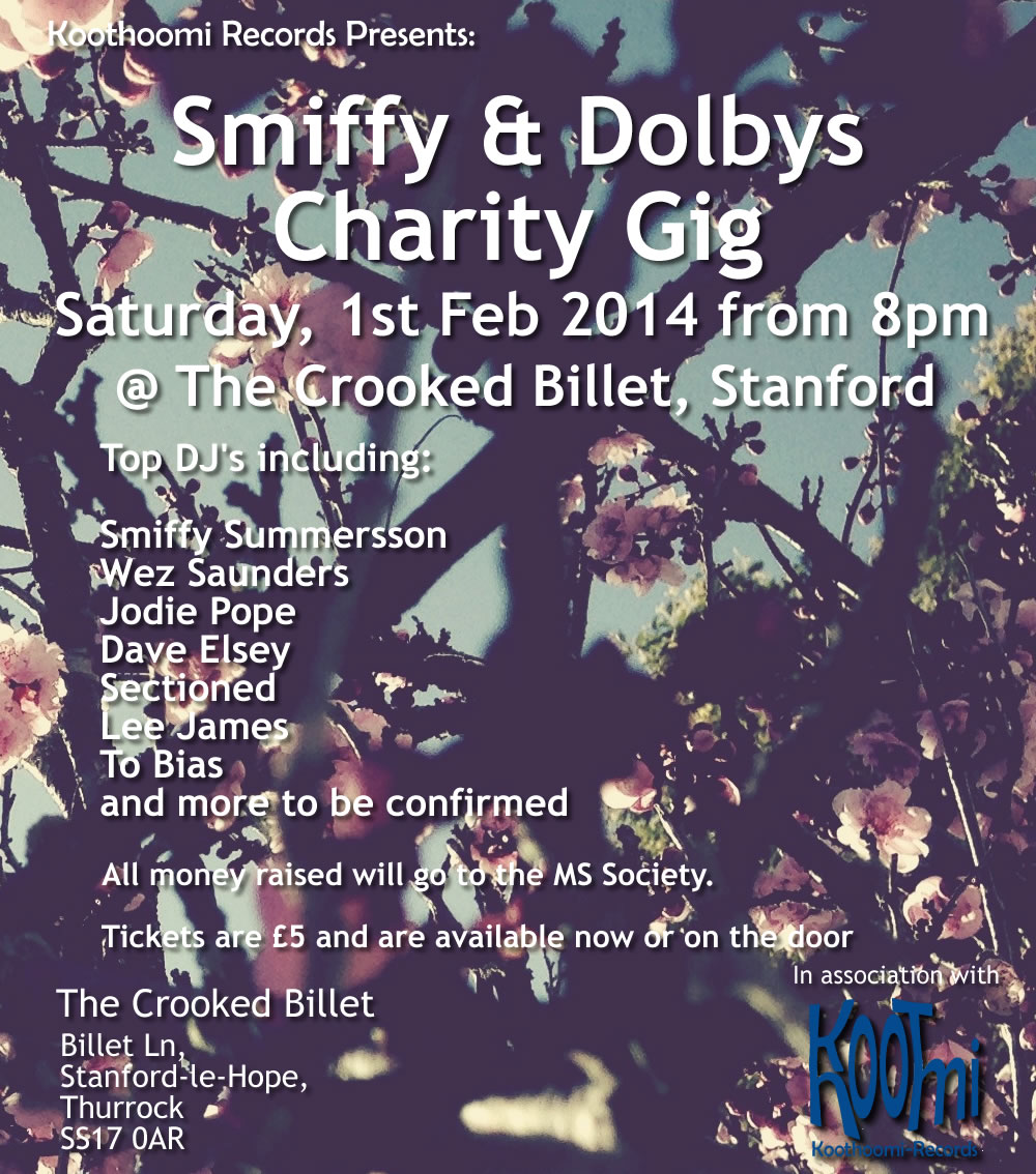 Smiffy and Dolbys Charity Gig