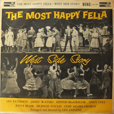 The Most Happy Fella - West Side Story 12 Inch Vinyl
