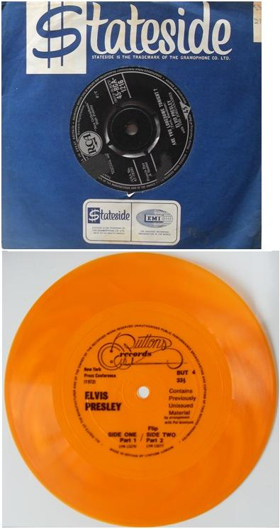 Elvis Presley - Lonesome Tonight and limited edition interview flexidisc of Elvis Presley 7 inch Vinyl