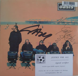 Oasis - Roll With It 7 Inch Signed Vinyl