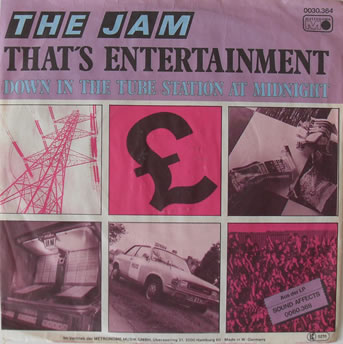 The Jam - Thats Entertainment 7 Inch Vinyl