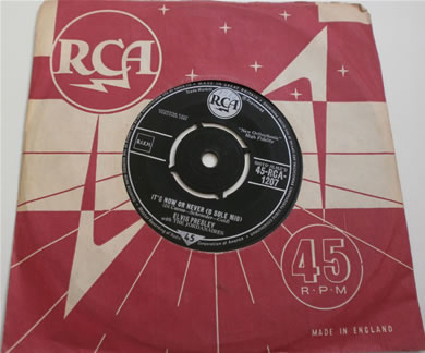 Elvis Presley - Its Know Or Never (O Sole Mio) / Make Me know It 1960 7 inch vinyl