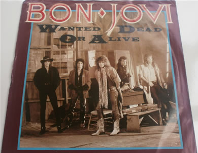Bon Jovi - Wanted Dead Or Alive 7 Inch Vinyl
