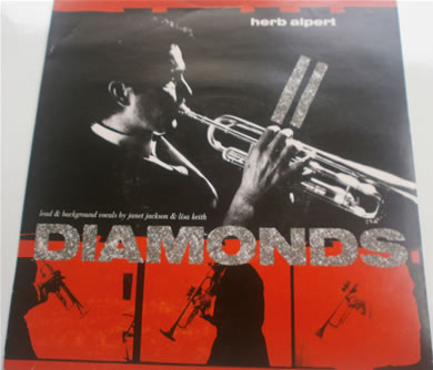 Herp Alpert - Diamonds Bi, Rocket To The Moon USA605 1987 7 Inch Vinyl