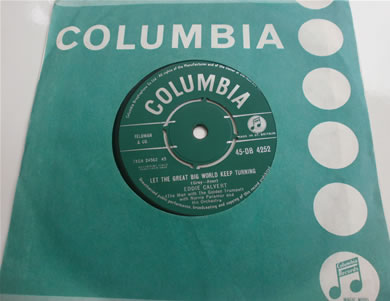 Eddie Cavert - Angelina Bi, Let The Great Big World Keep Turning 1959 DB4252 7 Inch Vinyl