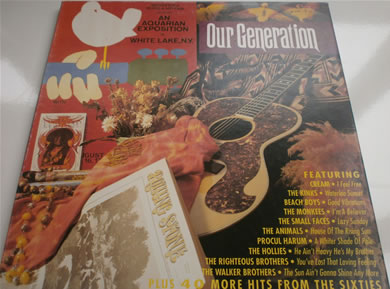 Woodstock Music and Art Fair Presents- Our Generation an Aquarian Exposition in White Lake , N.Y. 12 inch vinyl