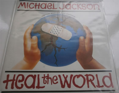 Michael Jackson - Heal The World / She Drives Me Wild - in poster sleeve 7 Inch Vinyl