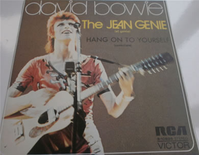 David Bowie - The Jean Genie B, Hang on to Yourself Spanish Press 7 Inch Vinyl