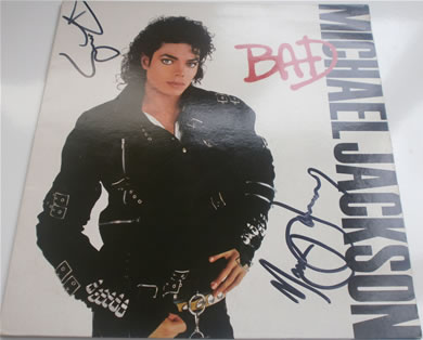 Michael Jackson - BAD 12 Inch Signed Vinyl